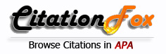 CitationFox APA - Get your citation examples!